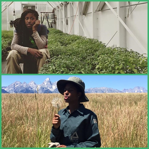 "MAKALAH EMANUEL, pictured above at Grand Tetons, and back home in Denver, has been working with Groundwork Denver since 10th grade, for about six years. ""A good way to get you off the streets and out of trouble,"" according to Makalah."